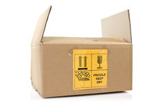 Labeled Shipping Box Stock Image