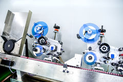 Labeling machine Stock Photo