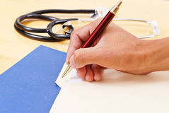Labeling Medical Files Royalty Free Stock Photography