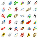 Labelling icons set, isometric style. Labelling icons set. Isometric set of 36 labelling vector icons for web isolated on white background Stock Image