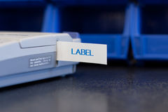 Labelmaker Photo libre de droits
