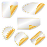 Labels. Set of ial gold stickers Royalty Free Stock Image