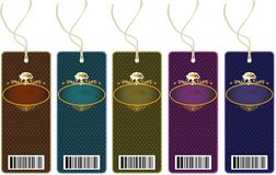 Labels. Price tags set with place for text Stock Illustration