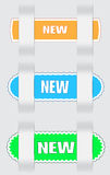 Labels 2. Three variants of the  labels - new, for various use Royalty Free Stock Photography