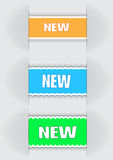 Labels. Variants of the  labels - new, for various use Stock Photos