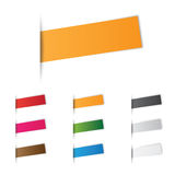 Labels. In different colors on a white background Royalty Free Stock Image