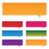 Labels. In different colors on a white background Royalty Free Stock Images