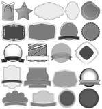 labels ilustración del vector
