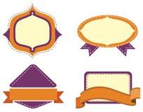 labels Imagen de archivo libre de regalías