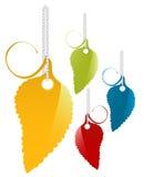 Labels. Vector colorful leaf labels set Stock Images