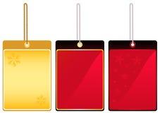 Labels. Festive label templates set vector illustration Stock Photo
