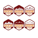Labels adventure camp Royalty Free Stock Images