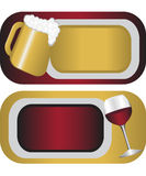 Labels for alcohol Stock Images