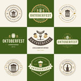 Labels, badges and logos set Beer festival Stock Images