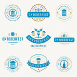 Labels, badges and logos set Beer festival Stock Photography