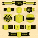 Labels and badges Stock Image