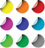 Labels badges and stickers Royalty Free Stock Photos