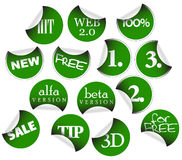 Labels, badges and stickers. With various texts Royalty Free Stock Photo