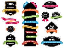 Labels, Banners, Ribbons and Stickers Vectors vector illustration