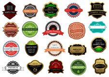 Labels and banners set Royalty Free Stock Image