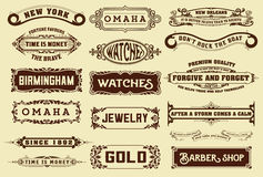 17 Labels and banners. Stock Images