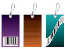 Labels with bar-code Royalty Free Stock Photography