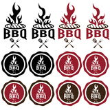 labels of bbq bacon Royalty Free Stock Photos