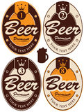 Labels for beer Royalty Free Stock Photo