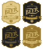 Labels for beer Stock Photography
