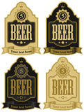 Labels for beer Royalty Free Stock Image