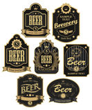 Labels for beer. Set of vector labels for beer in retro style Royalty Free Stock Images