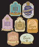 Labels for beer Stock Images
