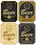 Labels for beer Royalty Free Stock Photography