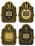 Labels for beer Stock Photo