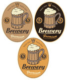 Labels for the beer Royalty Free Stock Photo