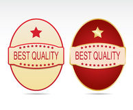 Labels - Best quality Royalty Free Stock Photography