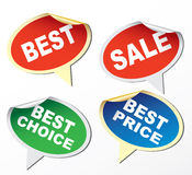Labels - best, sale, best choice, best price Stock Photography