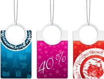 Labels for christmas Royalty Free Stock Photos