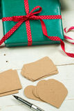Labels for Christmas packages Royalty Free Stock Photography
