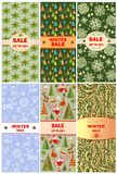 Labels for christmas sale Stock Photos