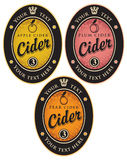 Labels for cider Stock Photo