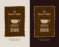 Labels for coffee beans Stock Image