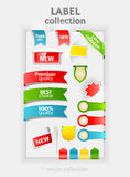 Labels collection Royalty Free Stock Photography
