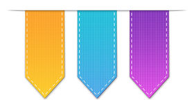 Labels. Colored arrow shaped labels, EPS10 vector image Royalty Free Stock Images