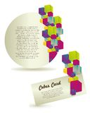 Labels of colorful cubes Royalty Free Stock Photos
