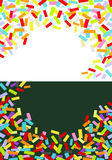 Labels & confettis. Colorful  labels and confettis  background Stock Photo