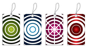 Labels with cool circles Stock Image