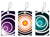 Labels with cool circles 2 Royalty Free Stock Photos