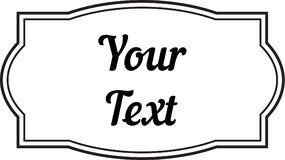 Labels décoratifs de cadre de vintage pour le texte et les photos illustration de vecteur