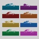 Labels décoratifs de couleur Images stock